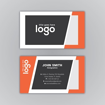 Black and orange business card design