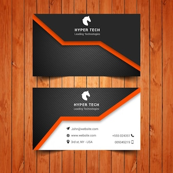 Black and orange business card