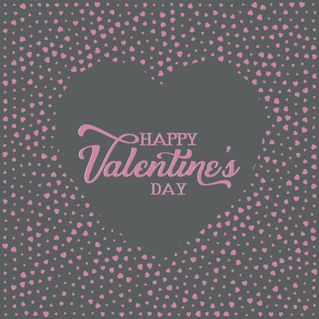Black and pink background for valentine