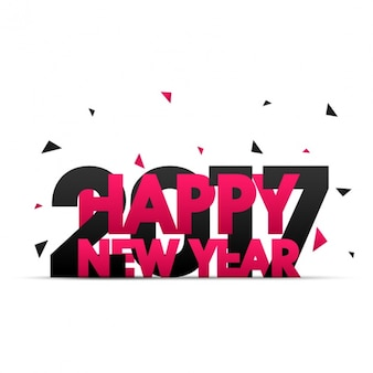 Black and pink new year background with triangles
