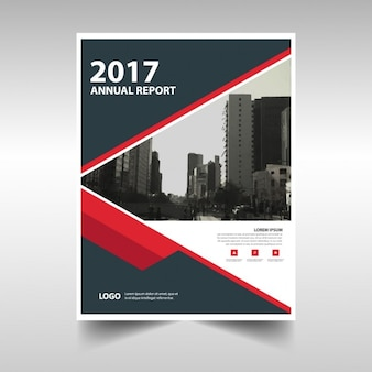 Black and red annual brochure