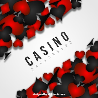 黒と赤のカジノの背景