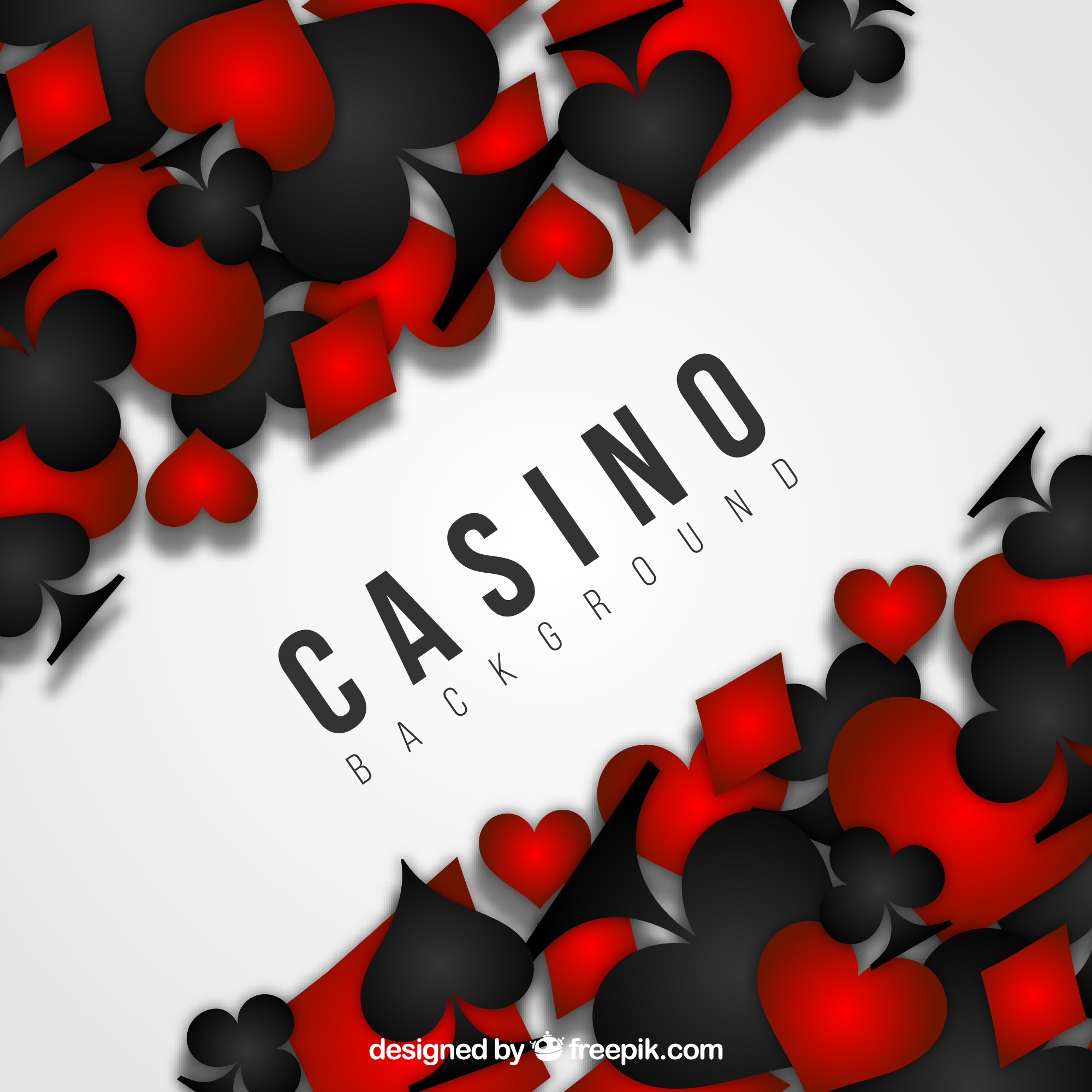 Black and red casino background