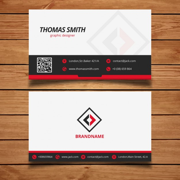 Black and red modern business card template 1 379 10 10 months ago