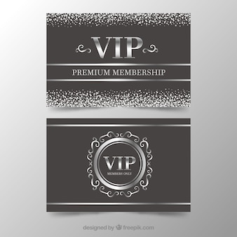 Black and silver card