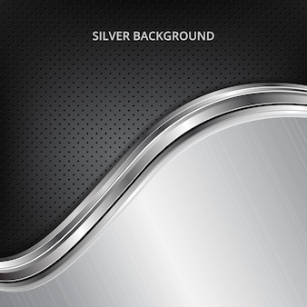 Black and silver wavy background