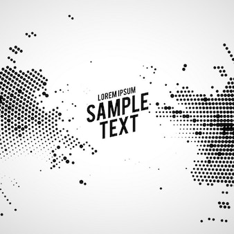 Black and white abstract background with dots