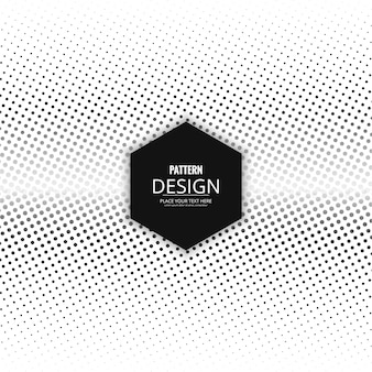 Black and white abstract background with halftone dots