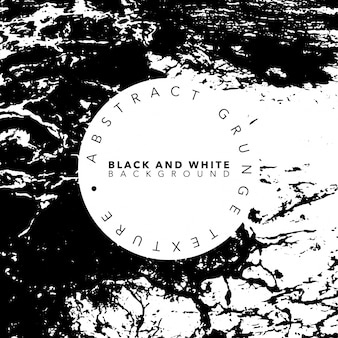 Black and White Abstract Grunge Poster Template