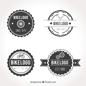 Black and white bike logo