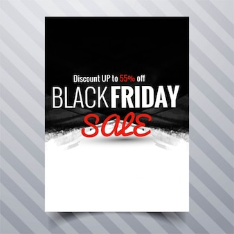 Black and white brochure, black friday