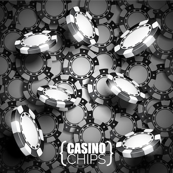 Black and white casino chips background