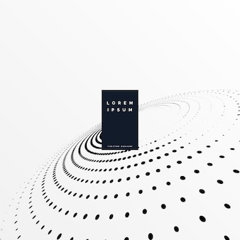 Black and white circular halftone dots background
