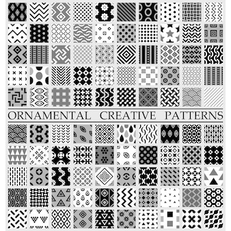 Black and white creative patterns
