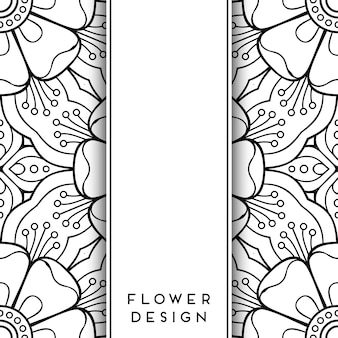 黒と白の花のデザイン