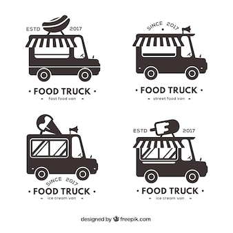 Black and white food truck collection