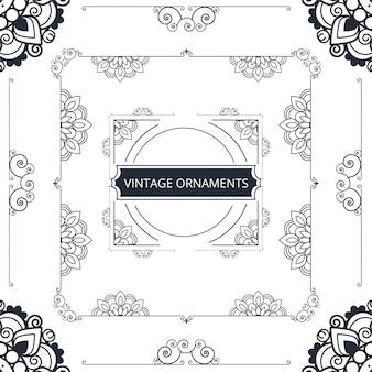 Black and white ornamental frame design