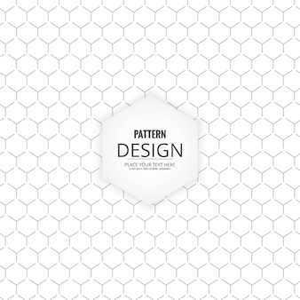 Black and white pattern with hexagons
