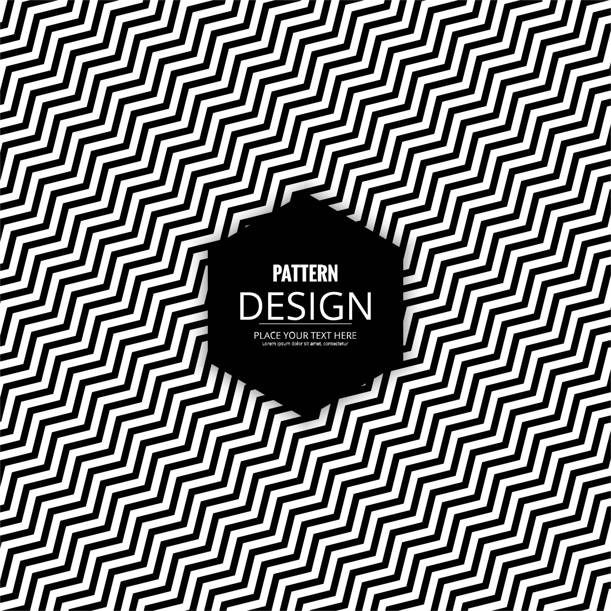 Black and white pattern with zig zag stripes