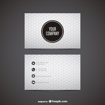 Black and white polygonal business card