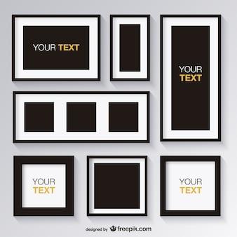Black and white set of frames