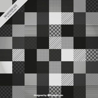 Black and white squares background with lines