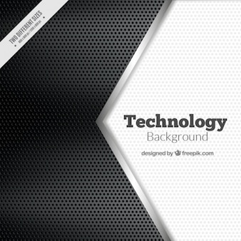 Black and white technological background