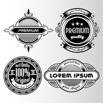 Black and white vintage logo collection