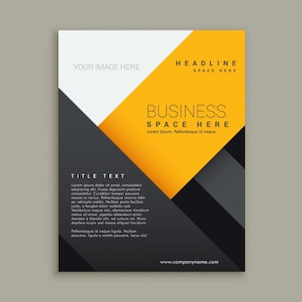 Black and yellow business brochure