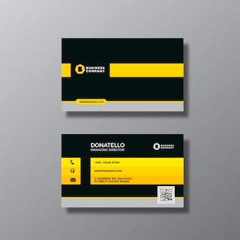 黒と黄色の名刺デザイン