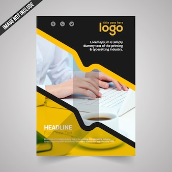 Black and yellow business flyer
