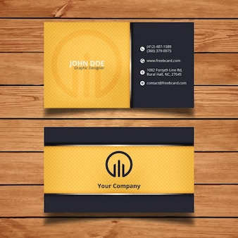 Black and yellow corporate card template