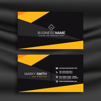 Black and yellow modern business card