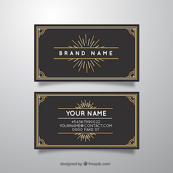 Black and Yellow Visiting Card