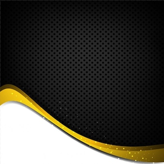 Black and yellow wavy background with dots