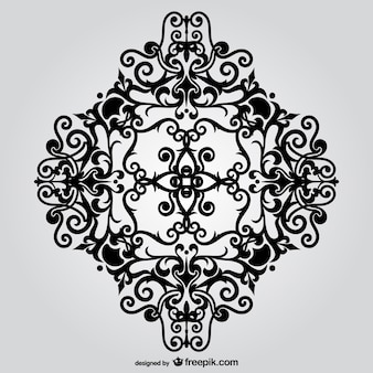 Black arabesque ornament