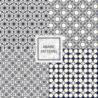 Black arabic pattern