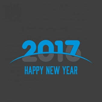 Black background for the new year 2017