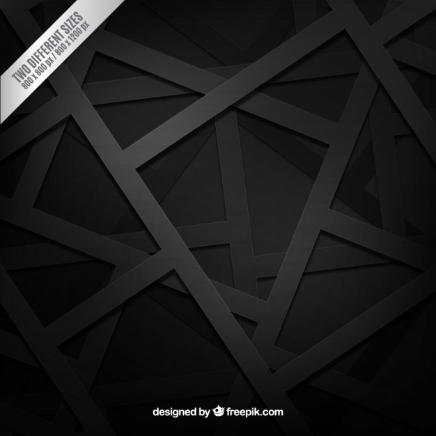 Black background in geometric style