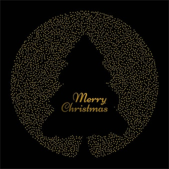Black background with a golden circle for christmas