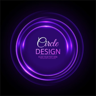 Black background with a purple neon circle