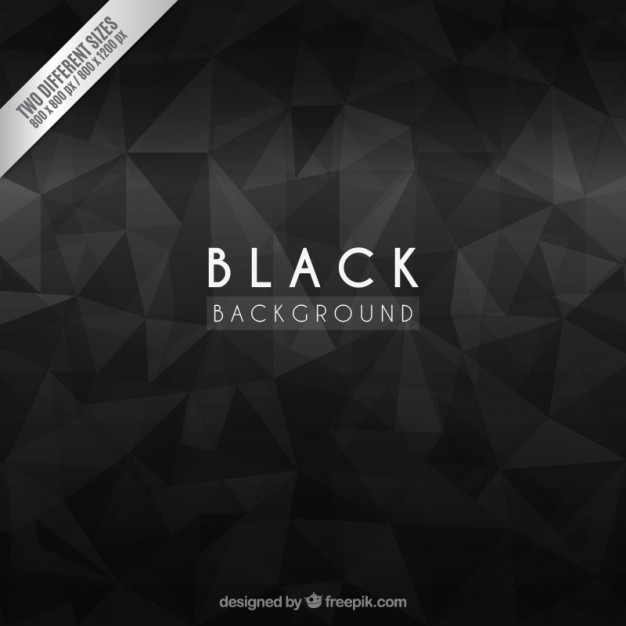 Black background with abstract polygons