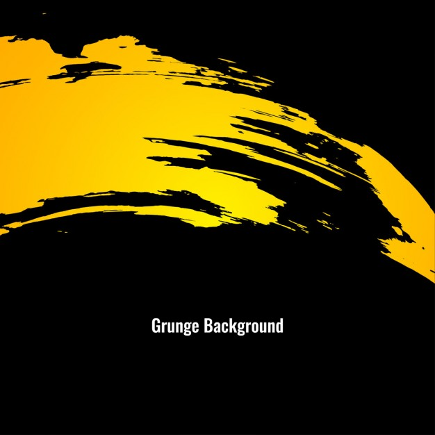 Black background with yellow grunge texture