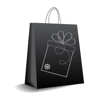 Black bag for gifts