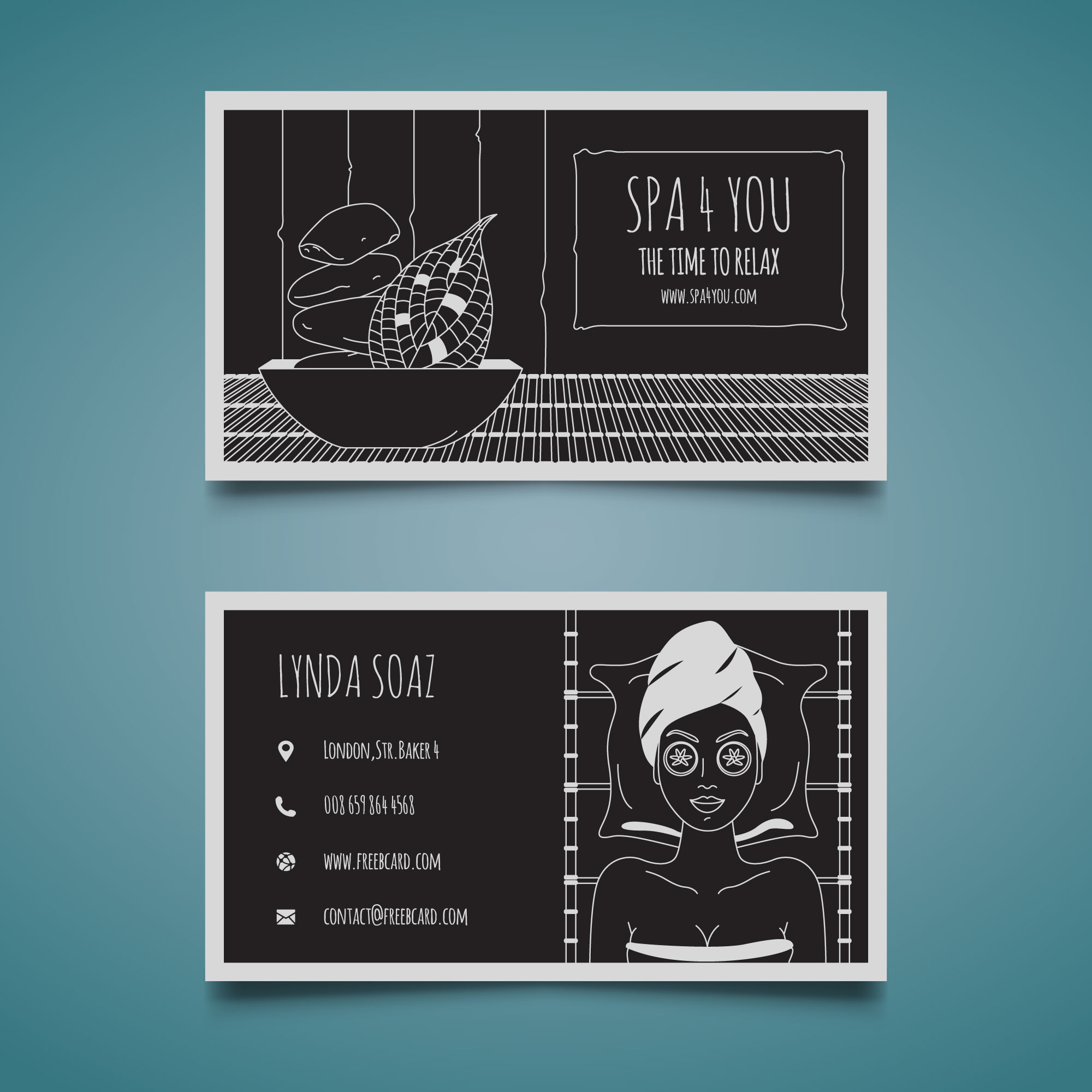 Black beauty corporate card