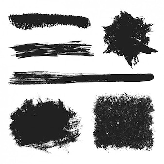Black brushes pack