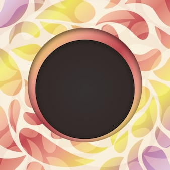 Black circle surrounded by coloured elements