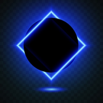 Black circle with shiny square