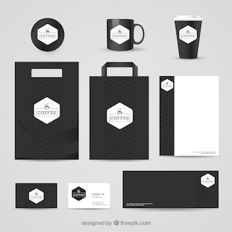 Black Coffee Shop Stationery