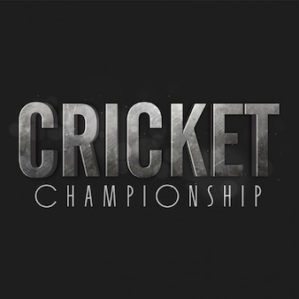 Black cricket background with silver letters